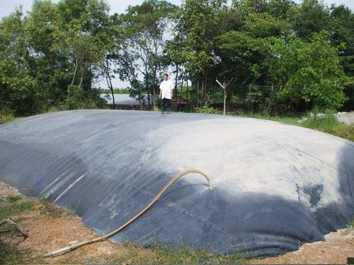 màng chống thấm hdpe làm hồ biogas